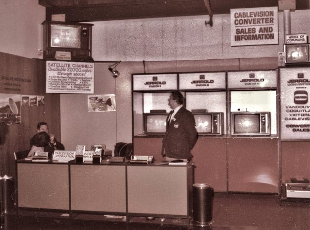 CVA 180-7619 - Cablevision converter display booth (PNE) 1978 Bob Tipple photo.