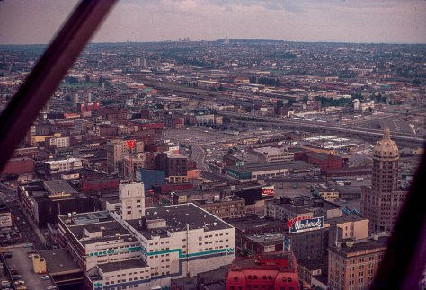 CVA - 2010-006.358 - Looking S.E. to Central Park from Harbour House Sept 1977 Ernie Reksten photo.