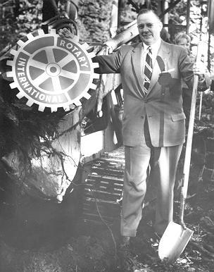 UBC Archives. Reg Rose at Sod-Turning for International House. 1957.