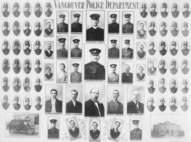 LP 269 - Vancouver Police Department 1907-08 George Marsden photo.
