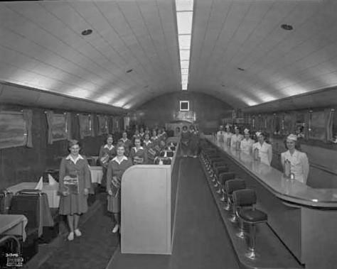 VPL 27452 Waitresses-stewardesses at the Sky Diner Cafe 1947 Province photo.