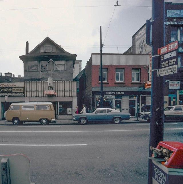CVA 778-341 - 1100 Robson Street south side 1974