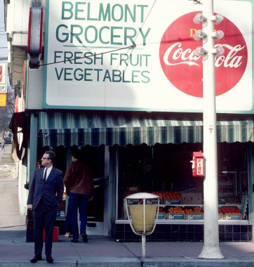 CVA 780-26 – Belmont Grocery, Theatre Row, [at 999 Granville Street] 1969.