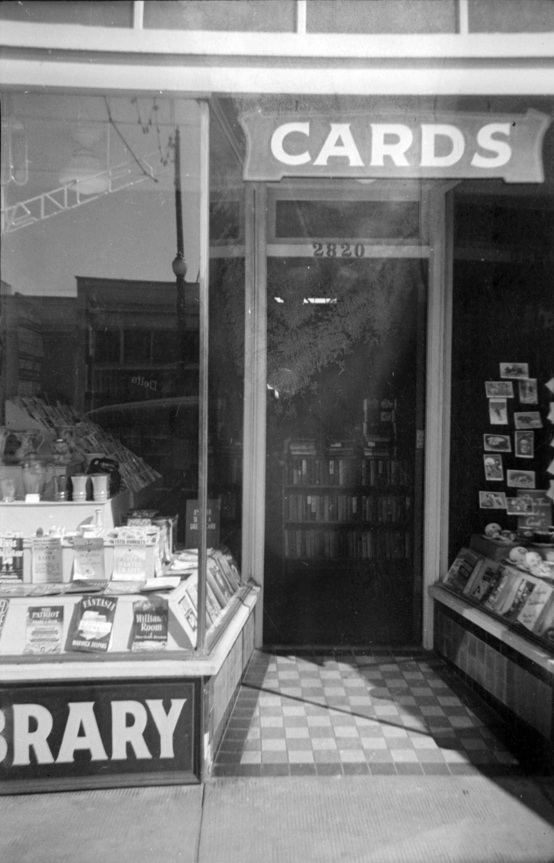 CVA 1376-521 - [2820 Granville Street - the Stanley Library %22June Leslie's store%22] 1933