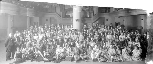 CVA 99-5231 - [Unidentified group in costume in ballroom] 192-? Stuart Thomson photo