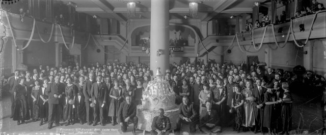 CVA 99-5250 - Firemen's 25th Annual Ball. Lester Court [1024 Davie Street] Nov. 14th 1923 Stuart Thomson photo