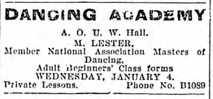 Lester in Vic 1905 Daily Colonist Jan 18:05