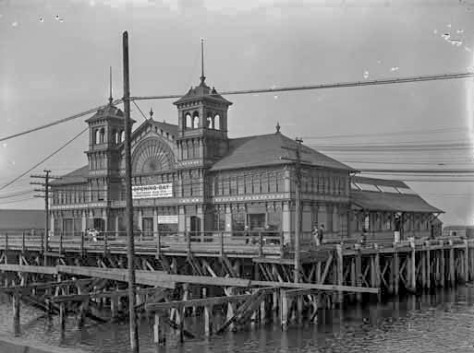 vpl 7435 New City Market opened that year at Westminster Ave (Main after 1910), west of Westminster or False Creek Bridge. On south side ofFC. 1908 PT Timms