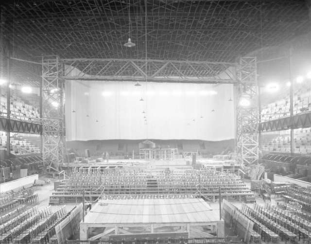 CVA 1399-523 - [Photograph of arena stage construction] ca 1925 Dominion Photo