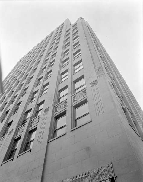 The facade of the Marine Building 1929 Stuart Thomson photo