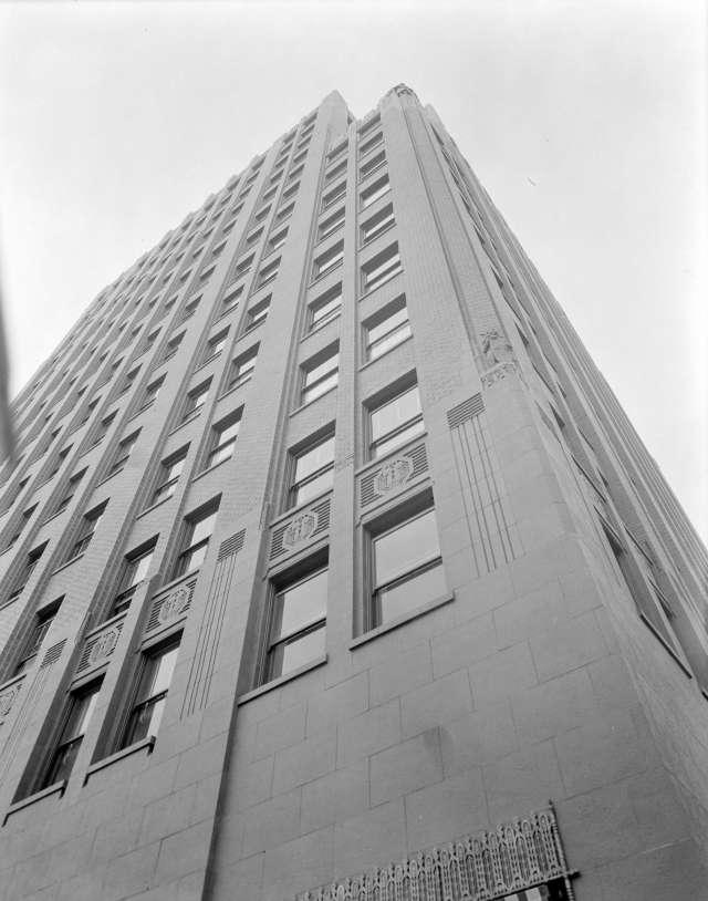The facade of the Marine Building 1929 Stuart Thomson photo