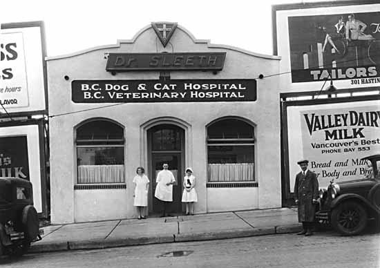 vpl 5426A B.C. Veterinary Hospital 1928 1329 Granville St. Frank Leonard