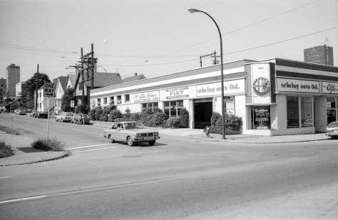 CVA 779-E08.28 - 500 Helmcken Street north side 1981 Vancouver Planning Dept Photo (Unknown photographer).