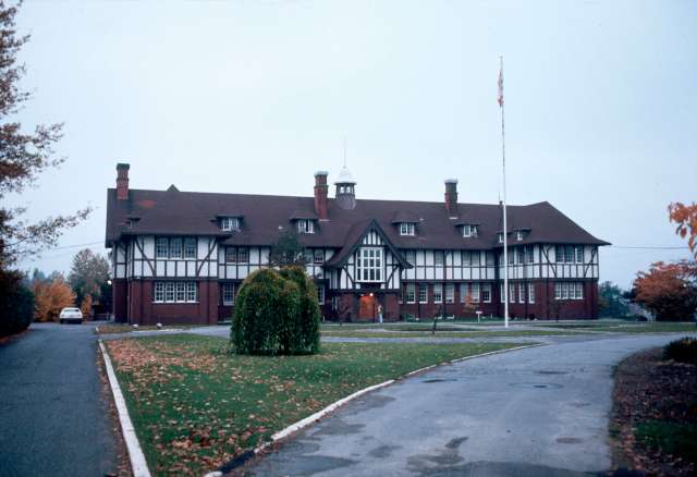 CVA 780-288 - [Canadian Government RCMP Fairmont Barracks at] 4949 Heather [Street]. 1976.
