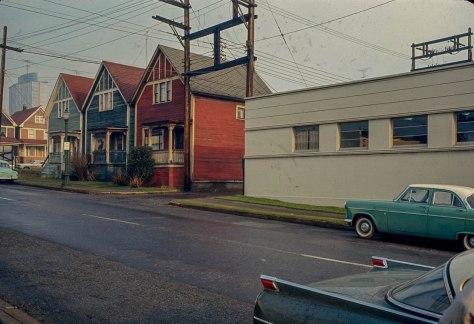 CVA 780-41 - [Houses along] Helmcken St[reet] 1966
