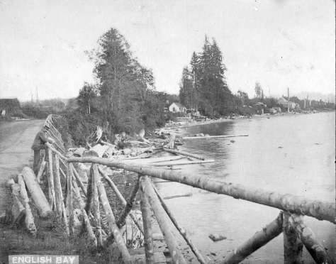 S-5-15 - English Bay [and Beach Avenue West of Chilco Street looking east]  ca1896