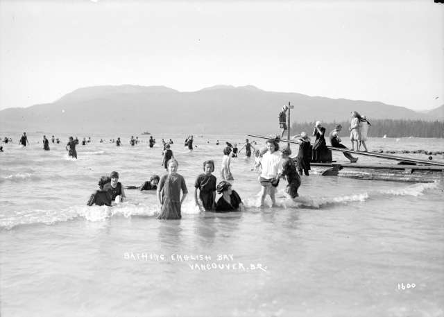 SGN 1015 - Bathing. English Bay. Vancouver, B.C. 1912? W J Moore