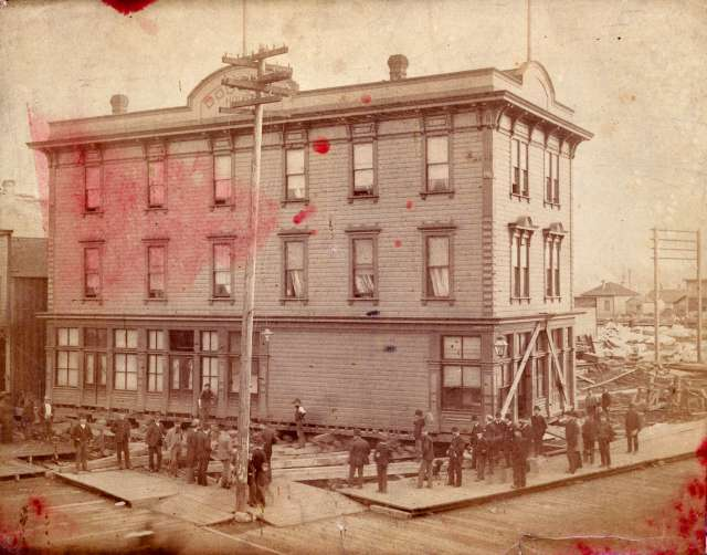 hot-p34-the-dougall-house-being-moved-from-the-southeast-corner-of-cordova-street-and-abbott-street-1890-bailey-neelands-photo