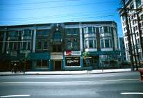 CVA 778-268 - 300 West Pender Street south side, 1974. Visible here are Dixon's Cafe and the Anglican Bookshop next door.