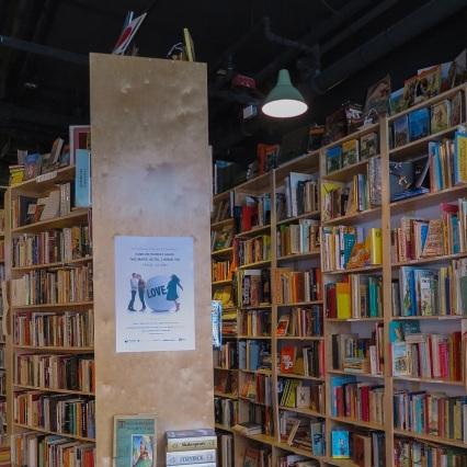 Interior of Paper Hound Books, 2017. mdm photo.