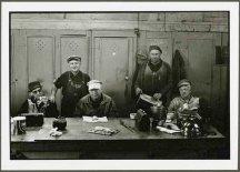 "VPL 88659 ""Group of men in a lunchroom"". Nina Raginsky. 1972."