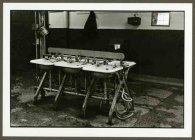 "VPL 88663 ""Wash area with row of sinks in industrial building"". Nina Raginsky, 1972."