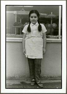 "VPL 88673 ""Portrait of a girl outside a bakery"". Nina Raginsky. 1972."