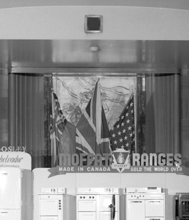 CVA 586-4596 - Display of Moffat [appliances in] Mayfair Room at the Hotel Vancouver 1946 Don Coltman