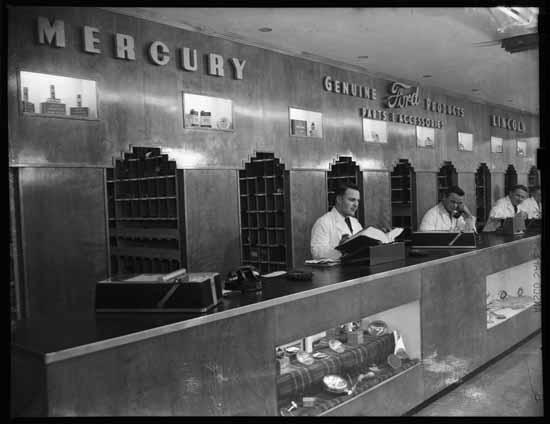 vpl 80442 Black Motors auto dealership parts department 1948 Art Jones