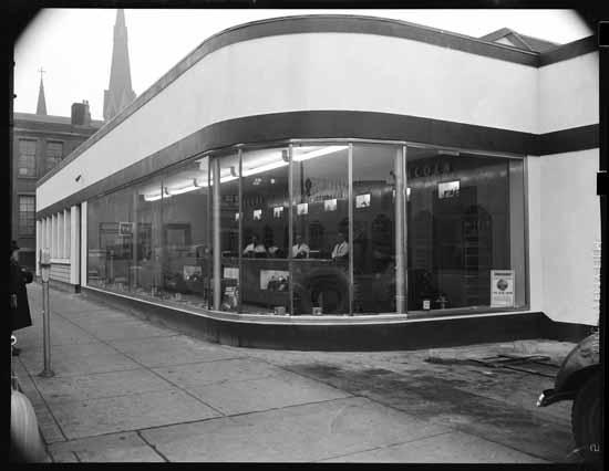 vpl80441 Black Motors auto dealership 1948 Art Jones