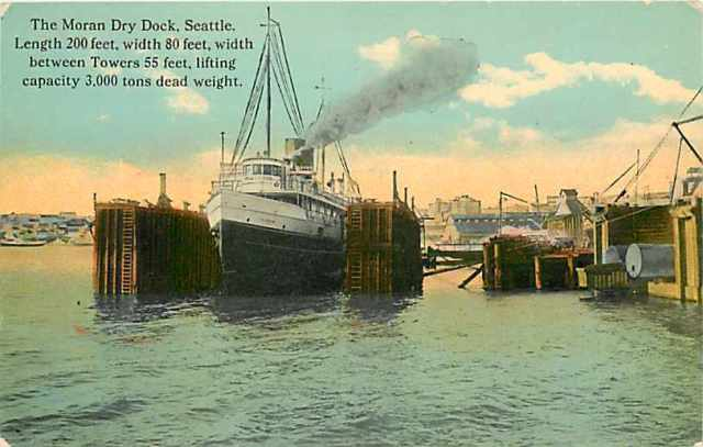 Iriquois Seattle Steamer in Moran Dry Dock, Seattle