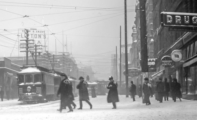 vpl 7135 Granville at West Hasting in the snow. 1909. PTT photo