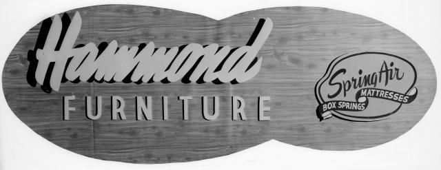 CVA 586-5725 - Hammond's [Furniture] signature ca1950 Don Coltman