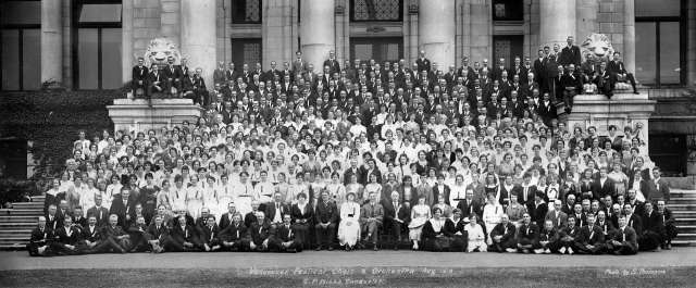 CVA 243-1 - Vancouver Festival Choir and Orchestra - G P Hicks leading - Aug 1919 Stuart Thomson