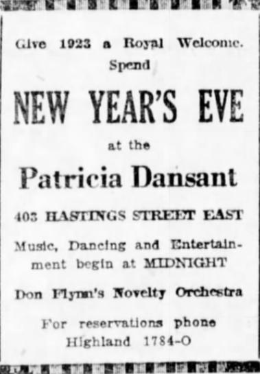 VDW 30 December 1922