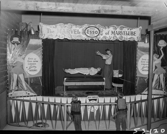 CVA 180-2385 - Esso display, the marvel of Marvelube magic show 1953 No attribution. PNE Photo