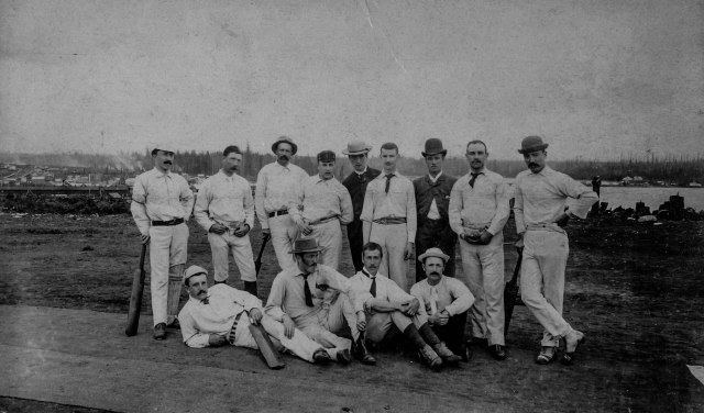 Sp P6 - [The Vancouver Eleven Cricket Team on the Cambie Street Grounds on Dominion Day] July 1, 1888 (incldg - I am pretty sure - Al Larwill (NOT Larwikk)_