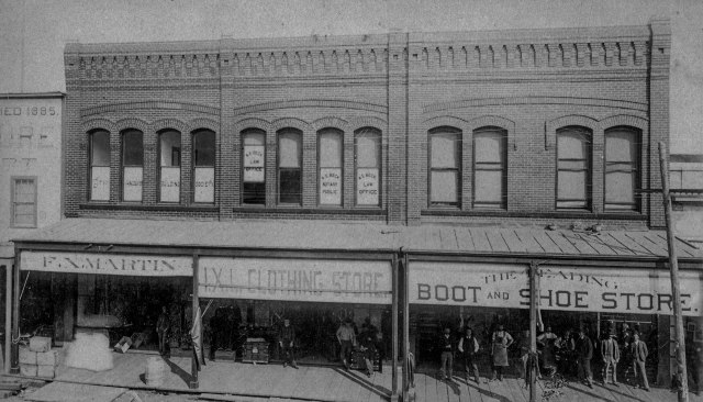 Str P77 - [F.X. Martin's groceries and provisions, A.E. Beck Law Office and a building society in the Unit Block Cordova Street] ca 1890