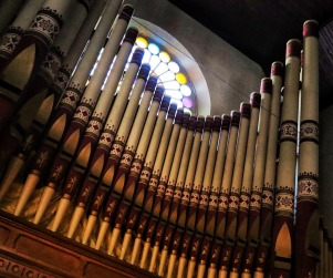 Organ Pipes 2 (with rose window visible above pipes). (MDM Photo)