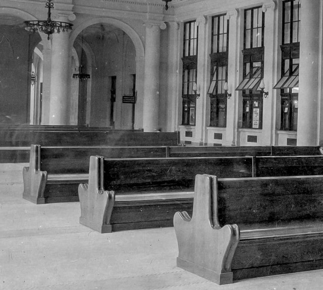 CVA 152-1.217 - [Main waiting room at third CPR station] c1914
