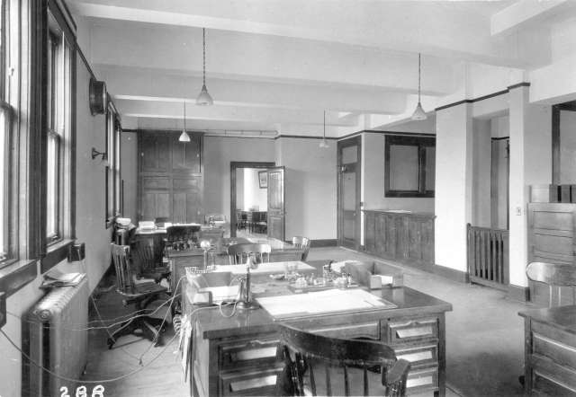 CVA 152-1.224 - [Office at the third CPR station] c1913