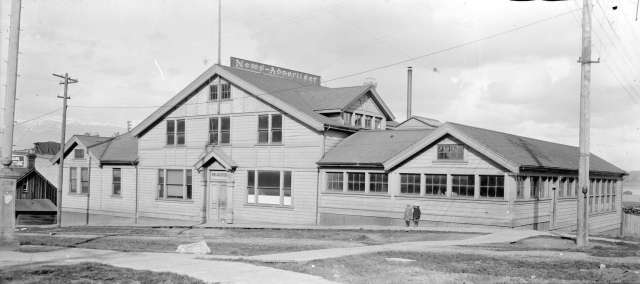 SGN 1457 - [News-Advertiser publishing office building at the corner of Cambie and Pender Streets] 1900? Norman Caple