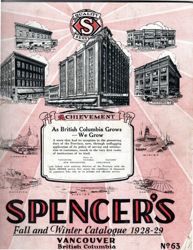 Spencer's fall and Winter Catalogue 1928-29