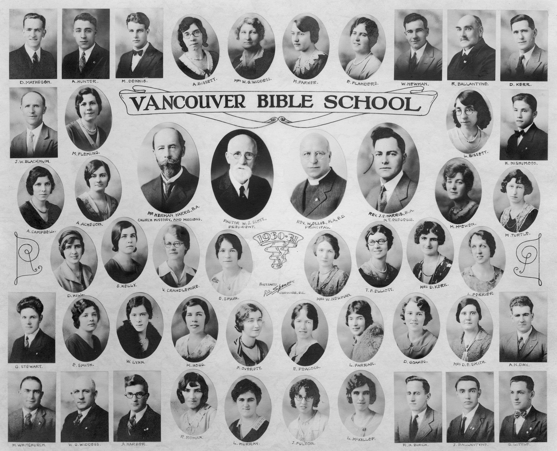 CVA 400-1 - Vancouver Bible School - 1930-1931. 1930. R. A. Spencer photo.