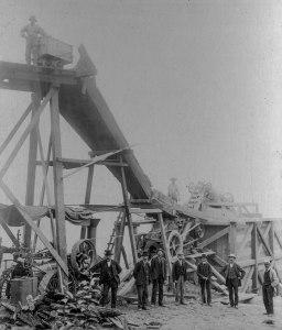CVA 371-1031 - [The rock crusher at Little Mountain Quarry] 1908-10