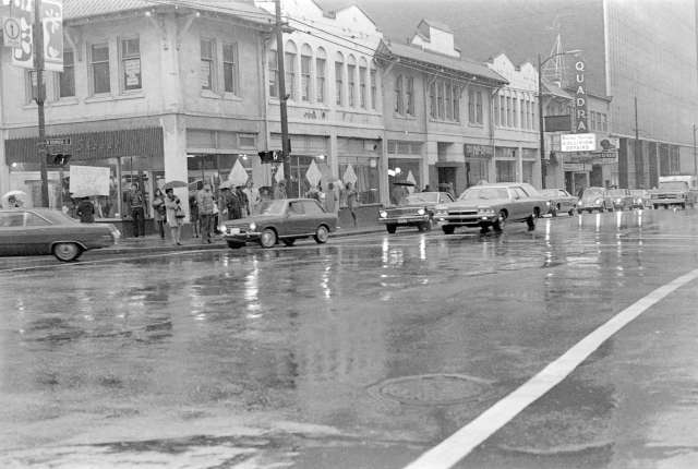 cva 69-21.07 - seymour street businesses across w. georgia street intersection ernie fladell 1972-74