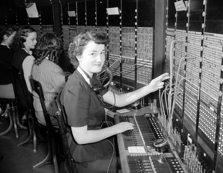 CVA 1184-2842 - [B.C. Telephone operator] 1940-48 Jack Lindsay.