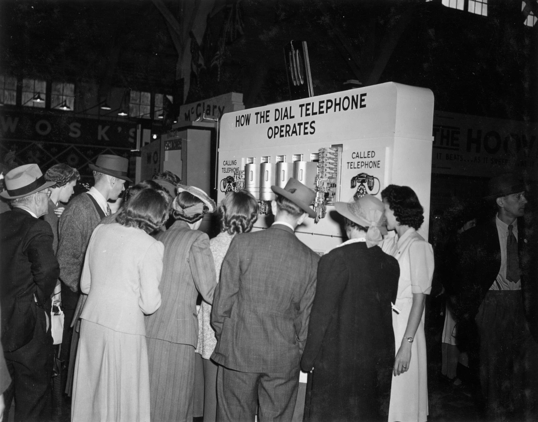 CVA 180-1219 - B.C. Telephone exhibit on dial telephones 1941 PNE.
