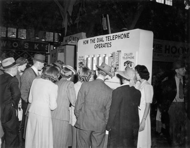 CVA 180-1219 - B.C. Telephone exhibit on dial telephones 1941 PNE.