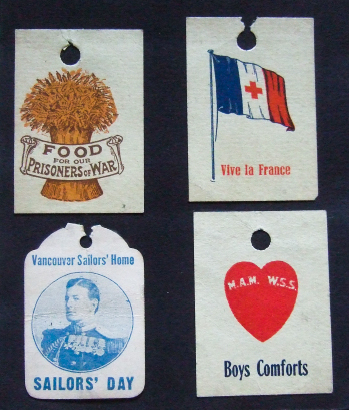 847a15e4fb Food for our Prisoners of War  Tag days were held in 1915-18 to fund food  parcels for BC soldiers who were PoWs in German camps.